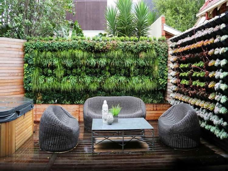 mur-végétal-jardin-vertical-terrasse-bois